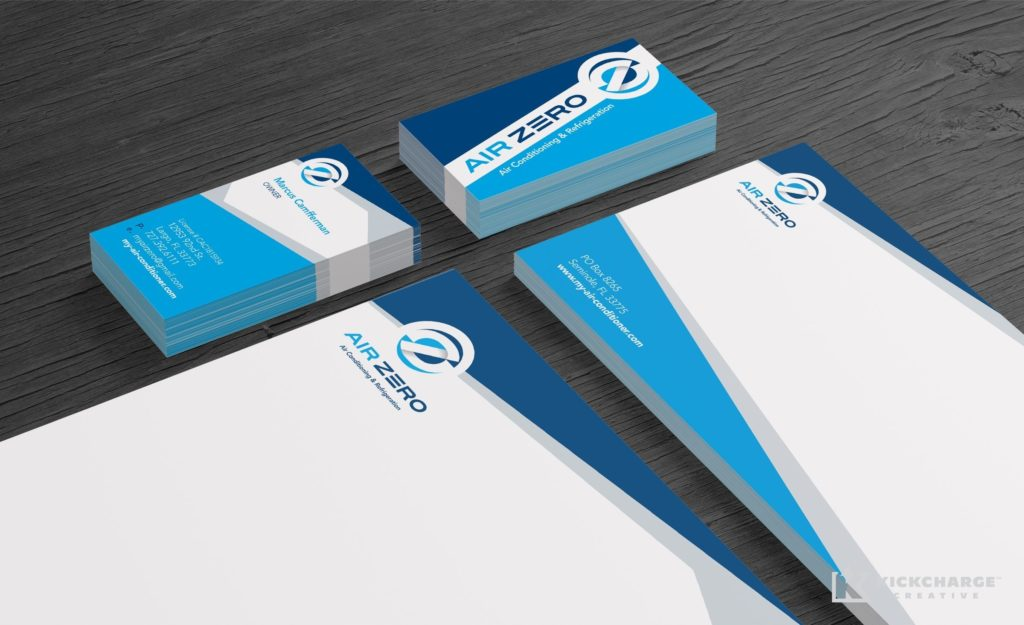 Stationery design and printing for Air Zero.