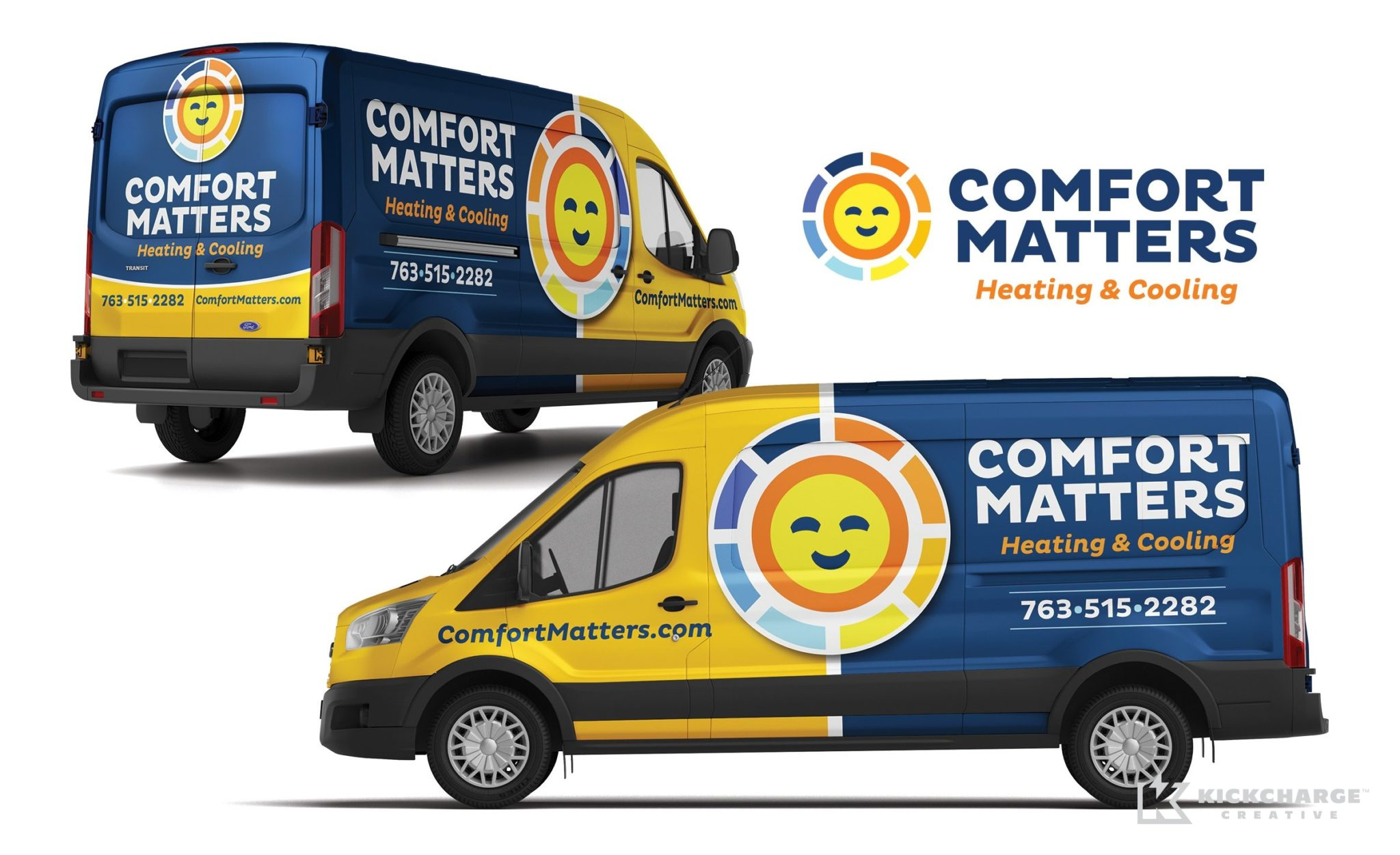 Truck wrap design for Comfort Matters Heating & Cooling.