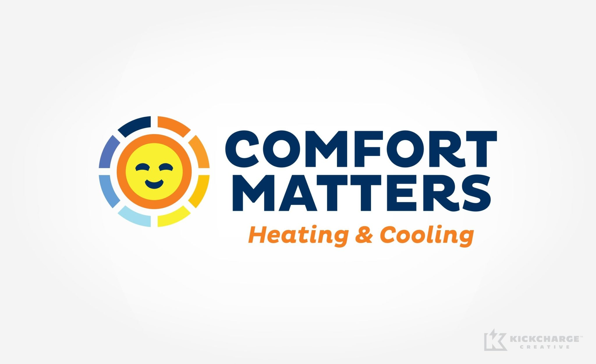 Logo design for Comfort Matters Heating & Cooling.