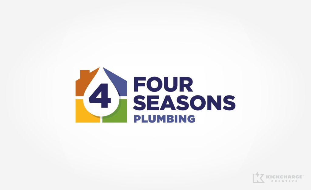 Logo design for Four Seasons Plumbing.