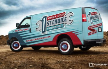 The best trucks wraps are memorable, easy to read, and use unique color schemes, as this truck wrap illustrates.