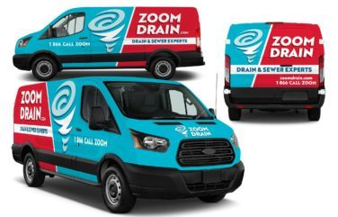 plumbing truck wrap design for Zoom Drain