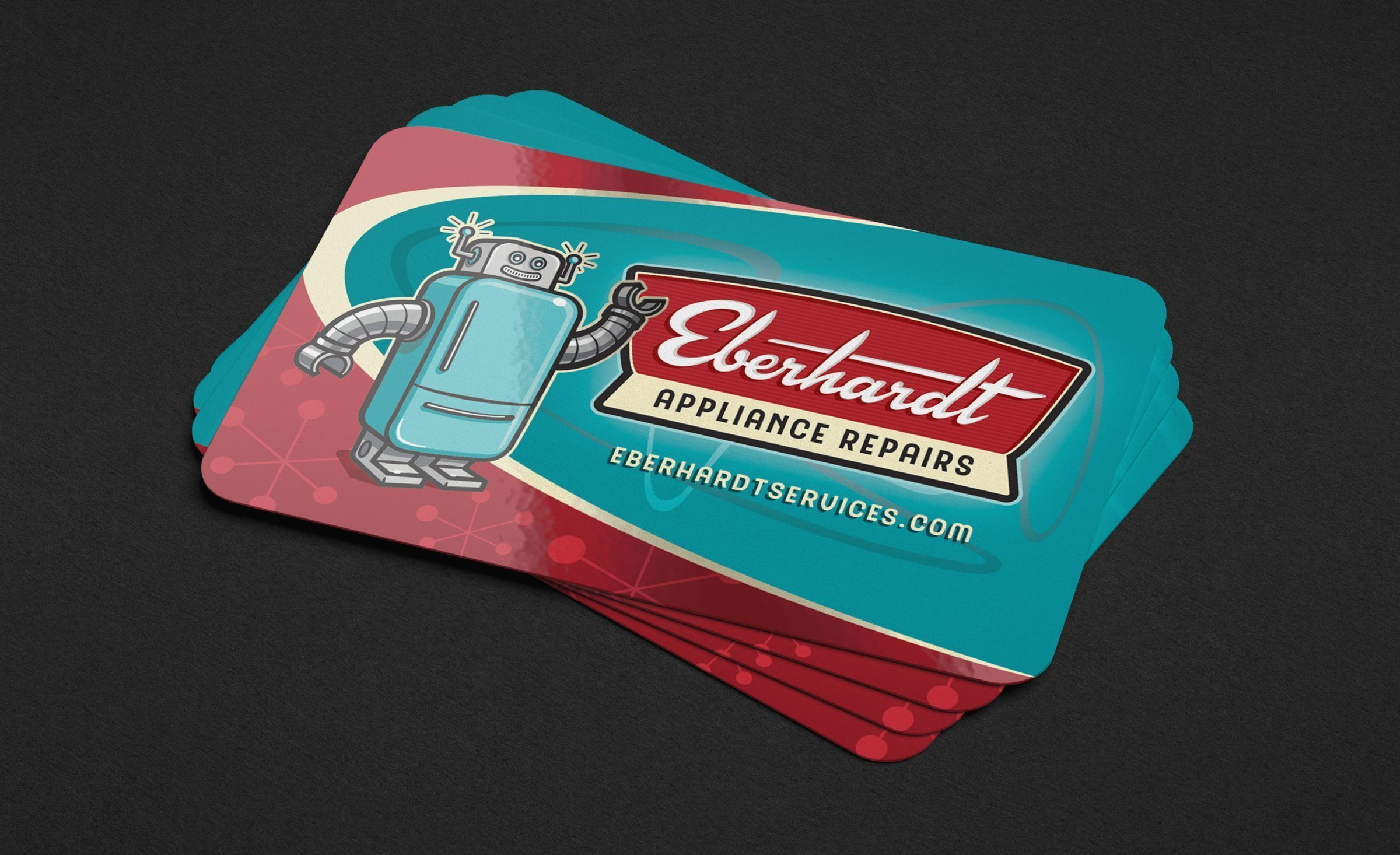 Business card design for Eberhardt Appliance Repairs.