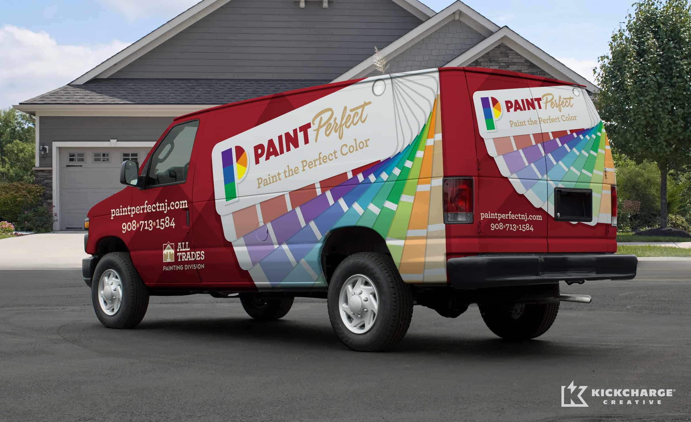 Vehicle design for Paint Perfect.