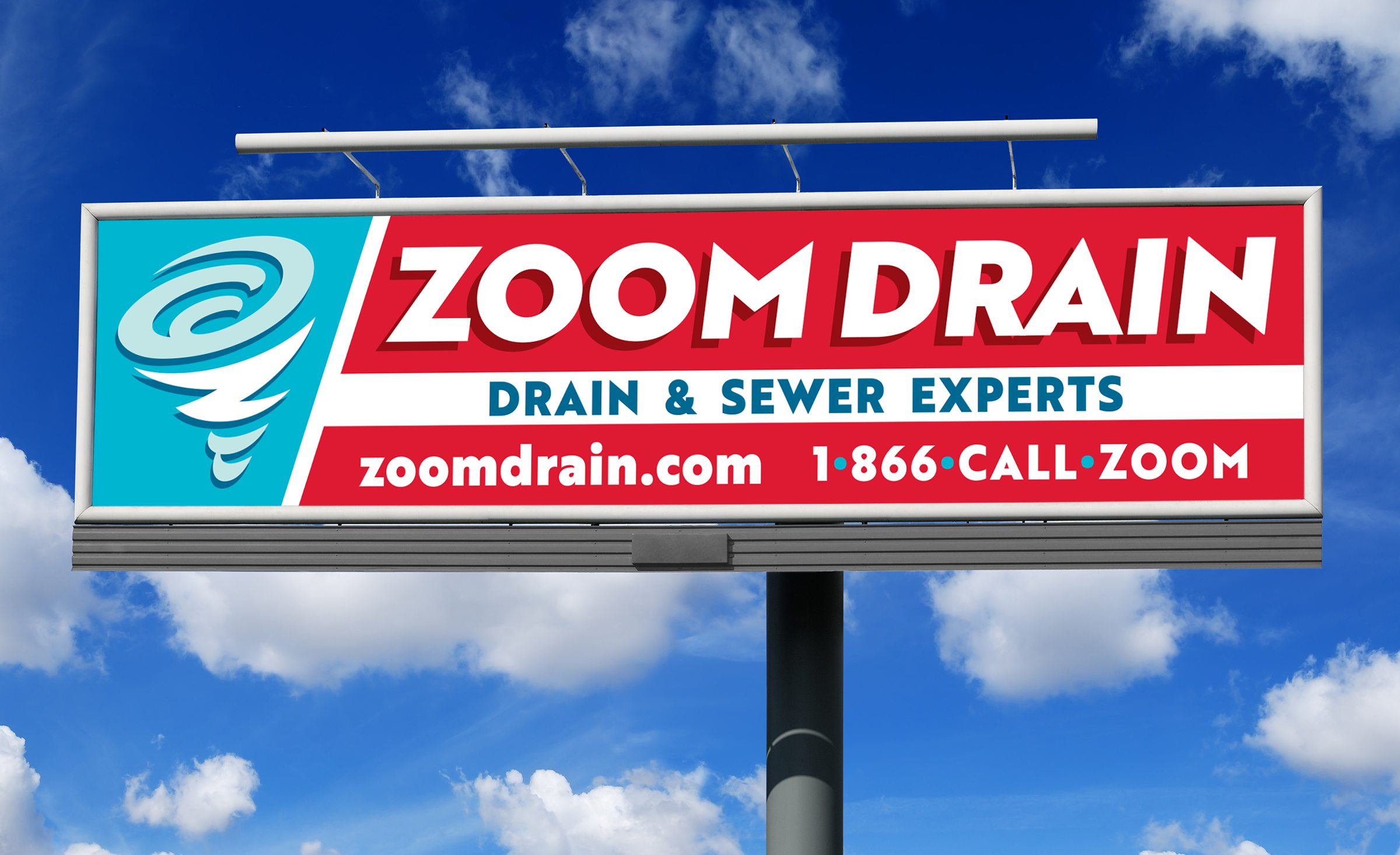 Billboard design for this drain & sewer company.
