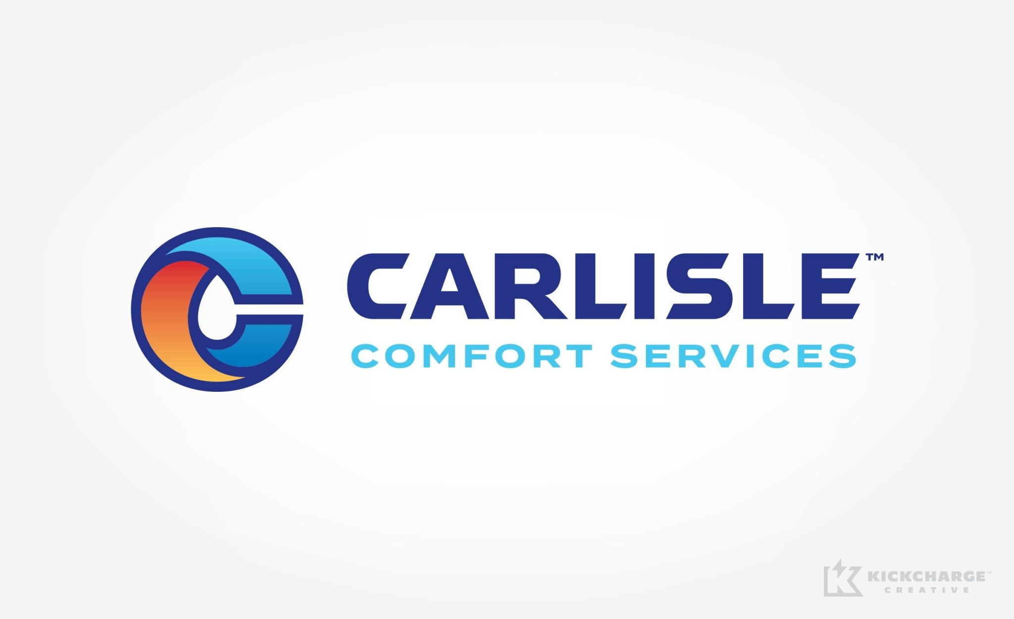 Logo design for Carlisle Comfort Services, a heating, cooling & plumbing contractor.