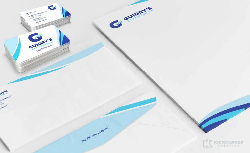 Stationery design for Guidry's AC & Refrigeration.