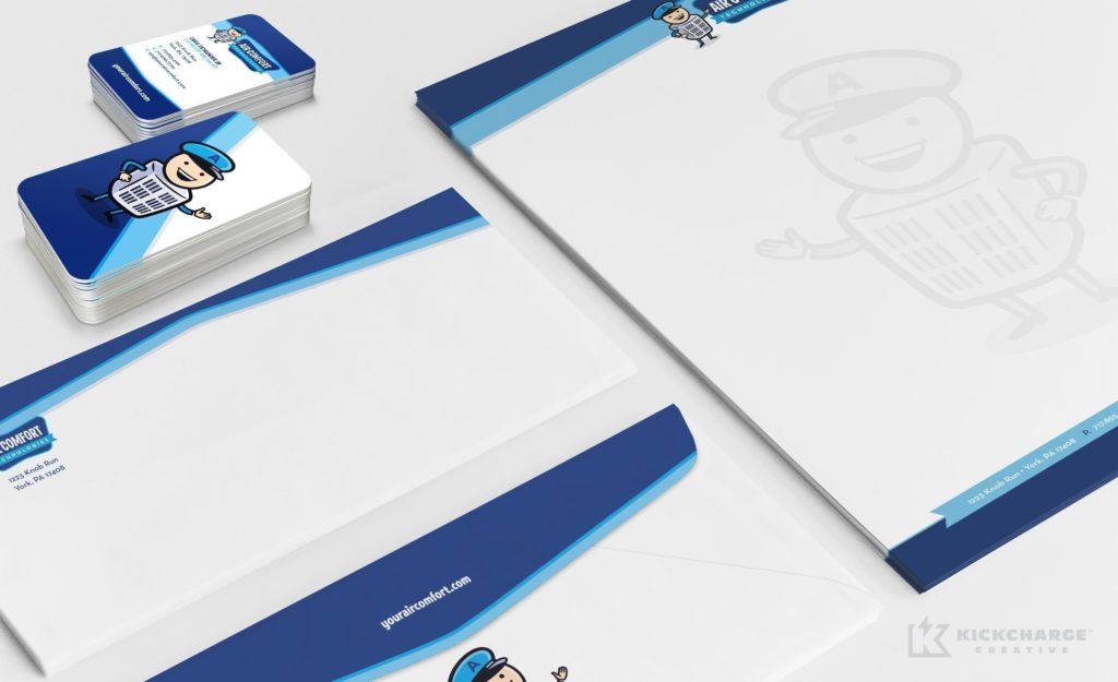 Stationery design for Air Comfort Technologies.