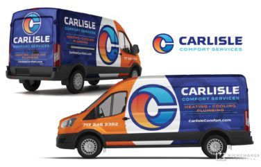 Vehicle wrap design for Carlisle Comfort Services.