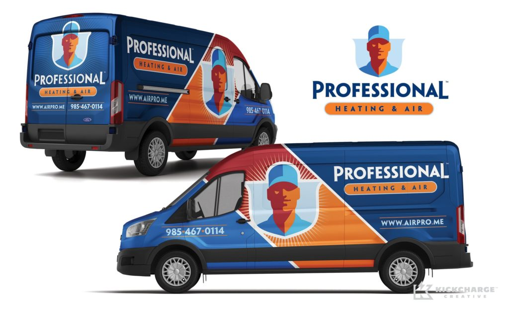 Vehicle wrap design for this Hammond, LA-based HVAC company.