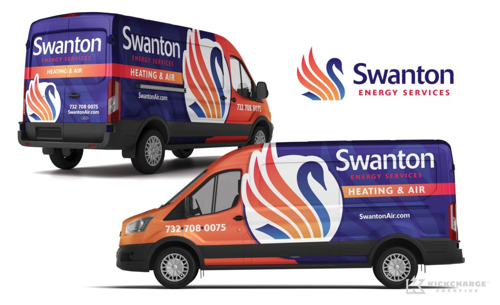 Vehicle wrap design for a New Jersey-based HVAC contractor.