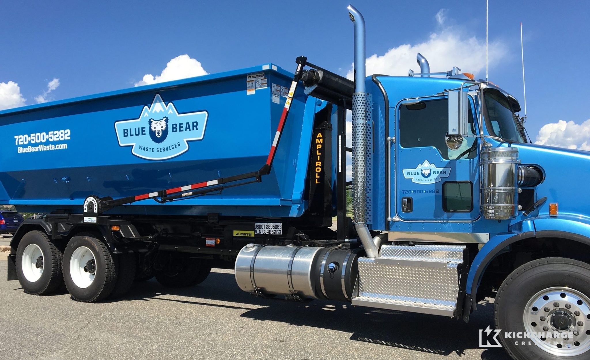 Truck wrap design for a Denver, CO-based waste management company.