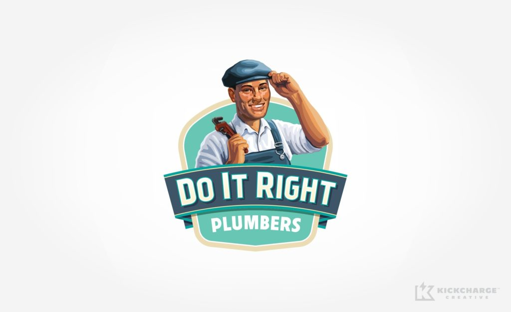 Logo design for Do It Right Plumbers.