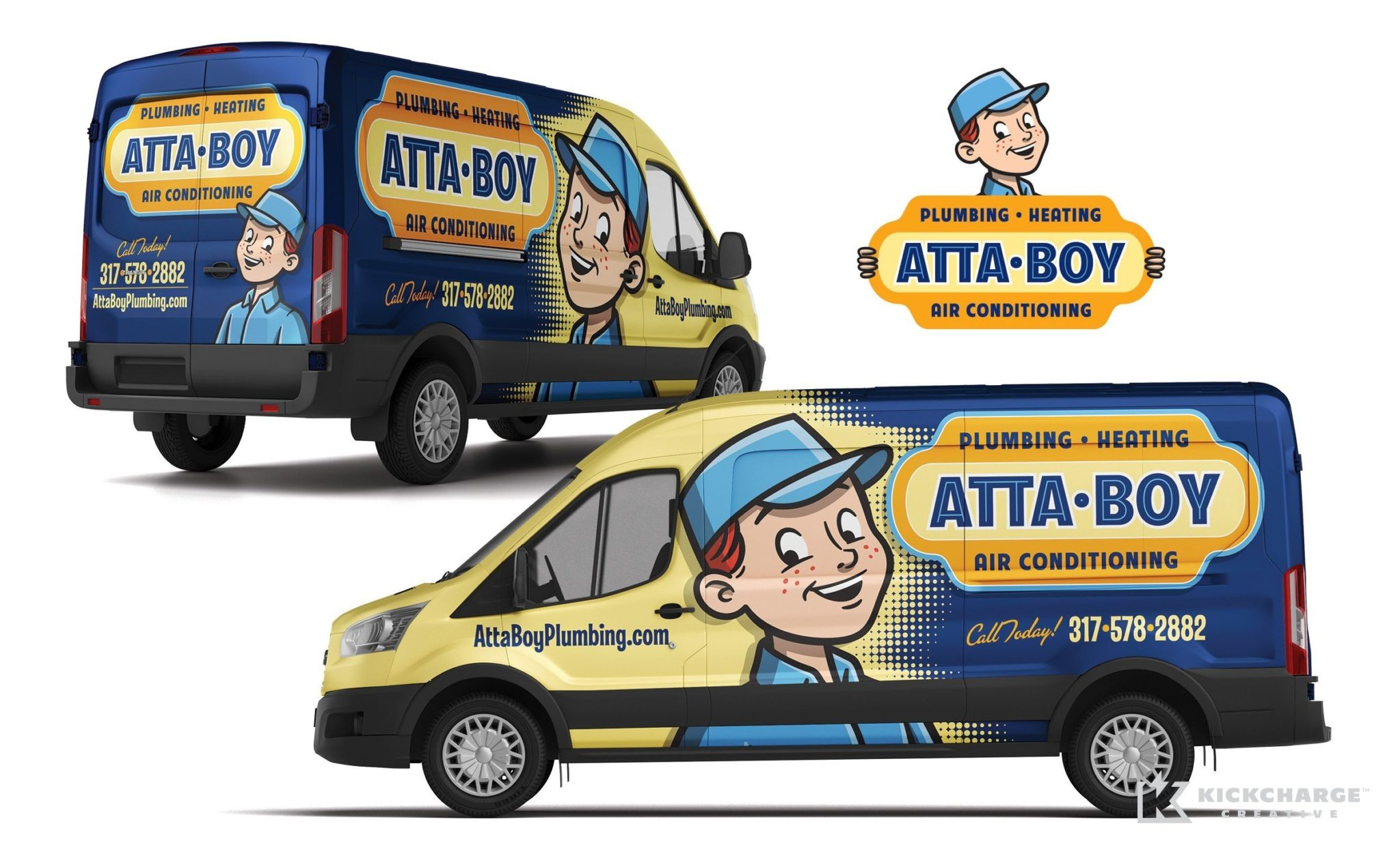 Vehicle wrap design for this plumbing company based out of Indianapolis.