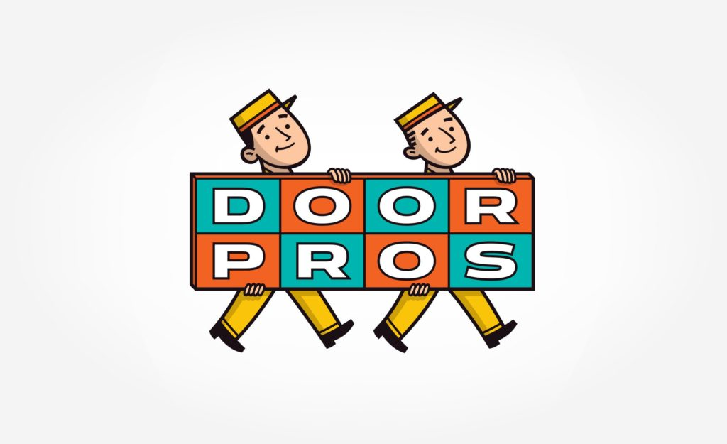 Logo design for a garage door contractor in Palm Springs, CA.