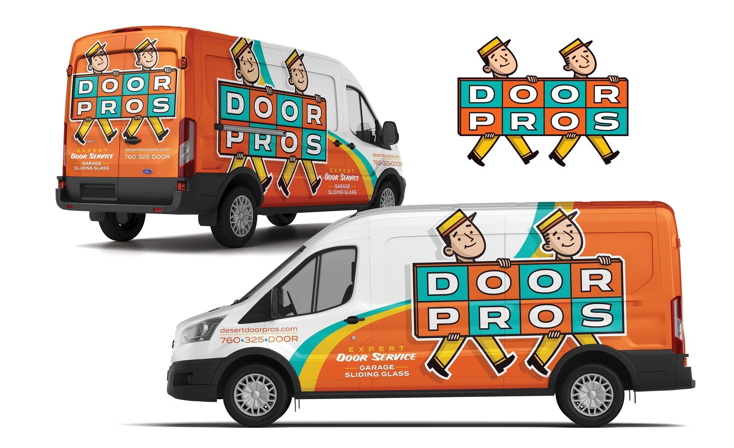 Best truck wrap design for a garage door contractor in Palm Springs, CA.