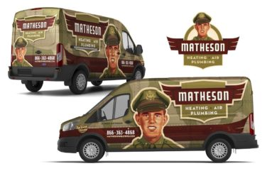 plumbing and hvac truck wrap for Matheson