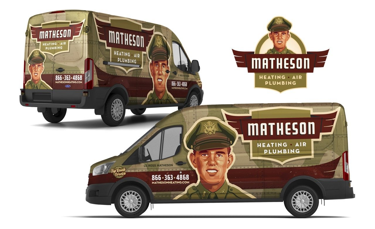 Truck wrap design for this Michigan-based HVAC and plumbing contractor.
