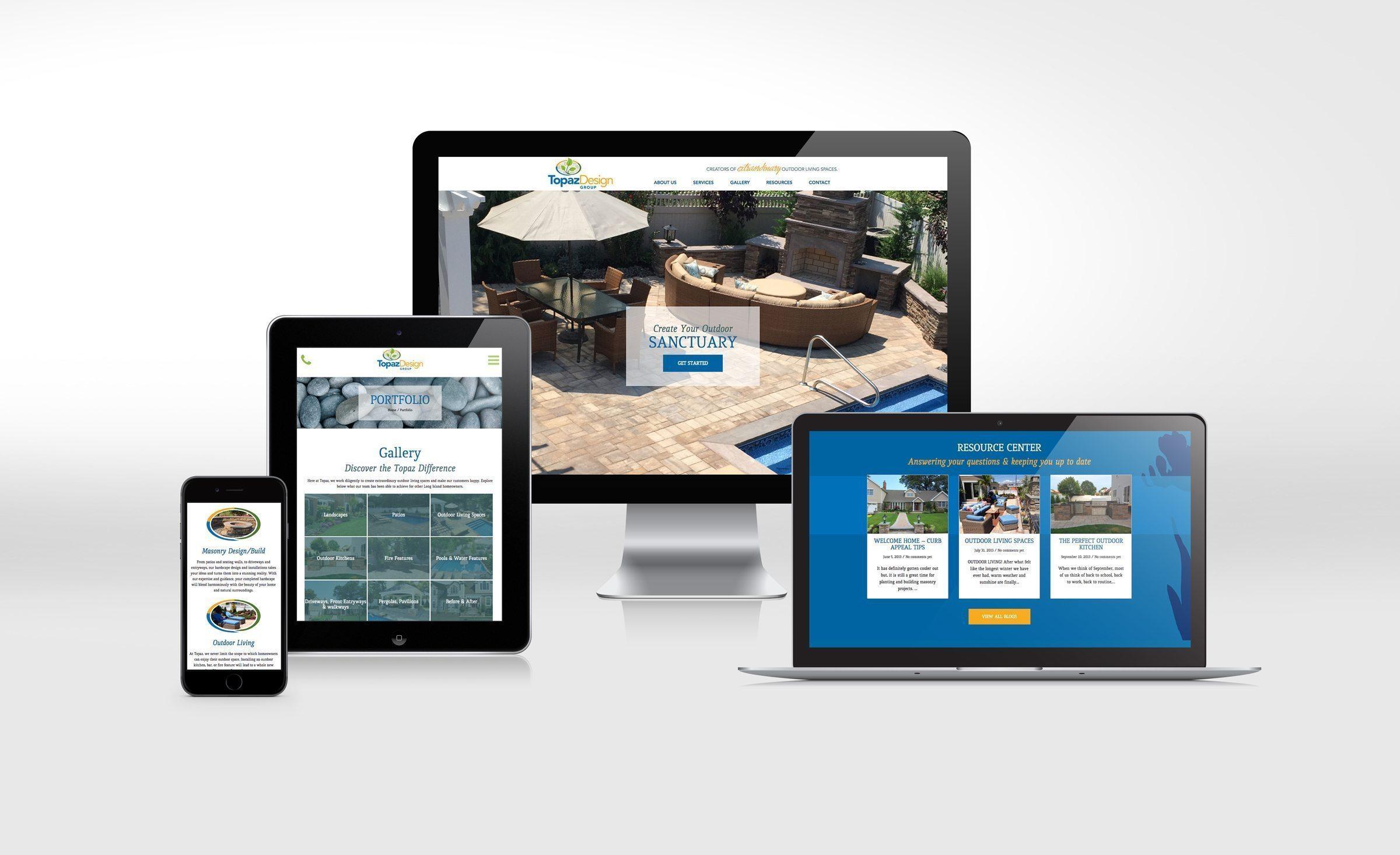 Website design for Topaz Landscape Design.