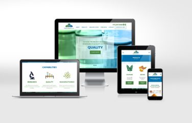 Website design for DolCas Biotech.
