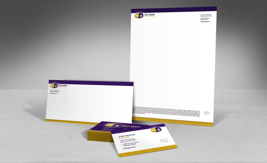Stationery design for HS Tech Group.