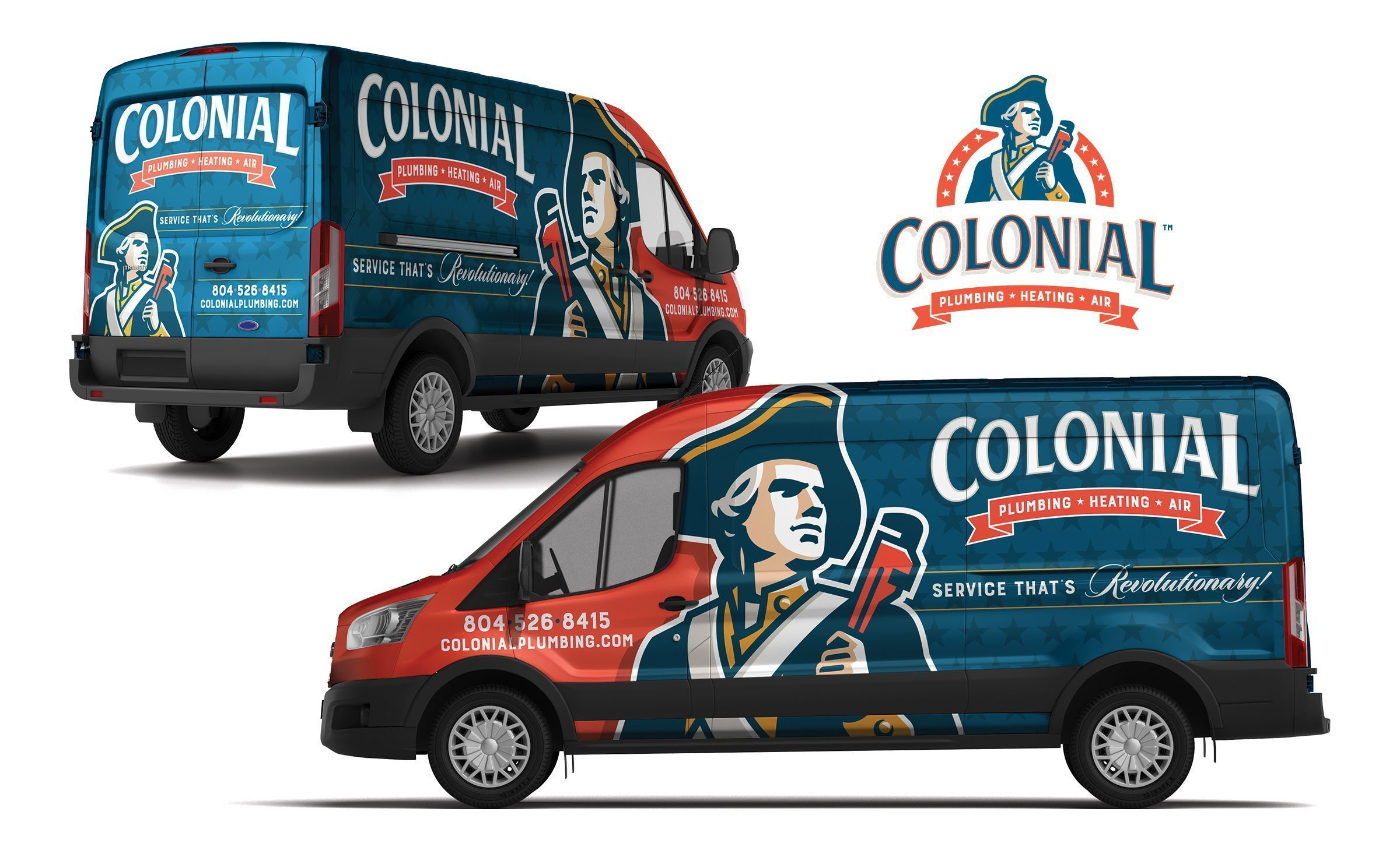 Vehicle wrap design for this HVAC and plumbing contractor located in Colonial Heights, VA.