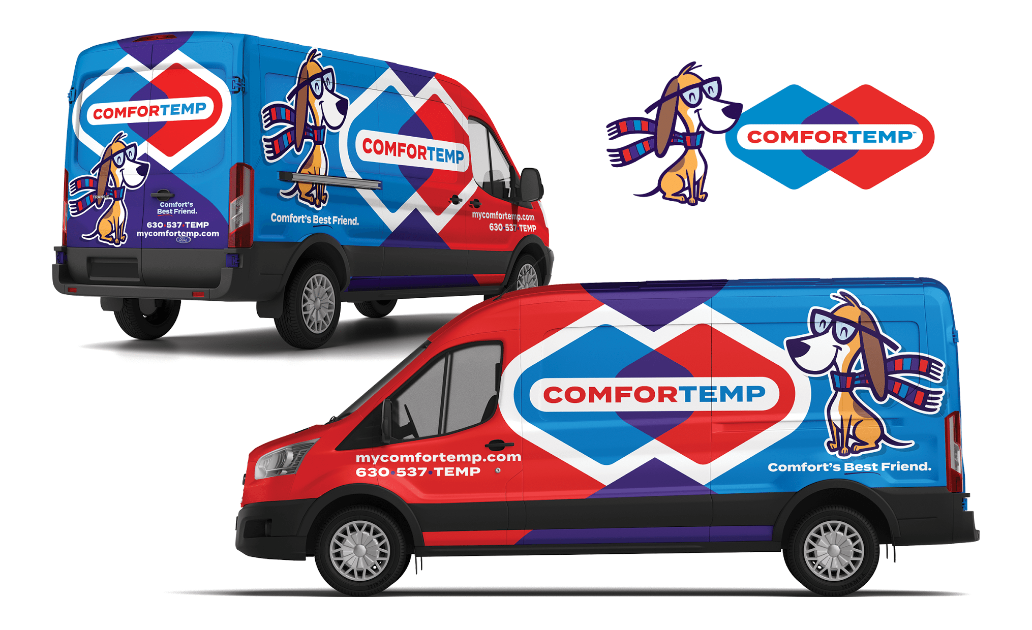 Vehicle wrap and logo design for this Lemont, IL-based HVAC contractor.