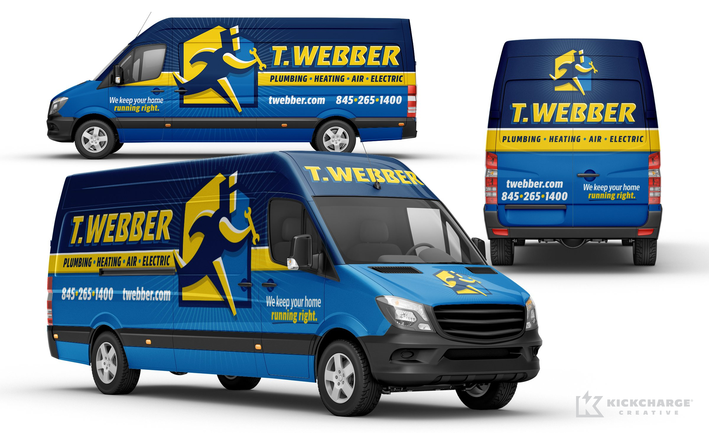 Vehicle wrap design for T.Webber.