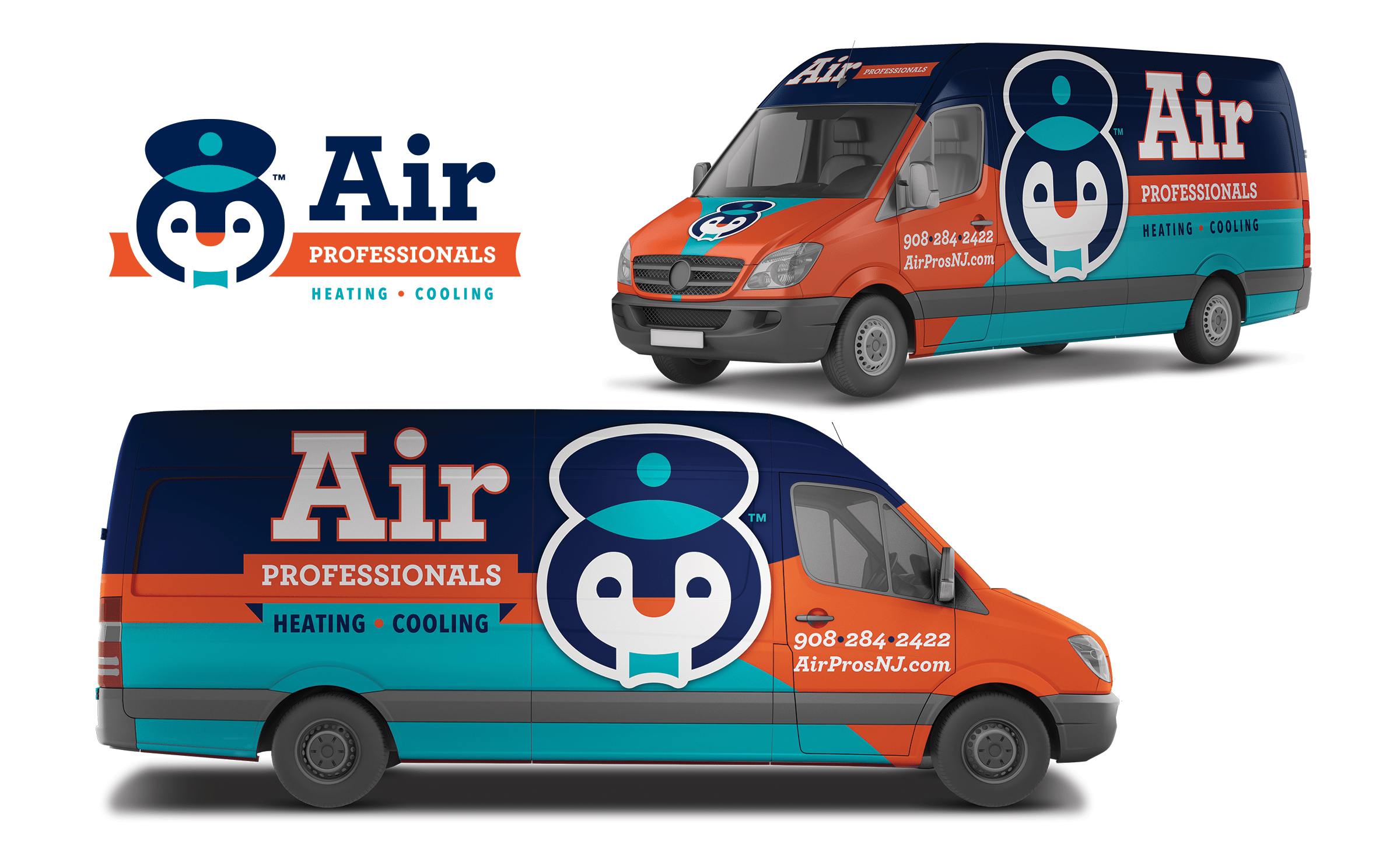 hvac truck wrap for Air Professionals