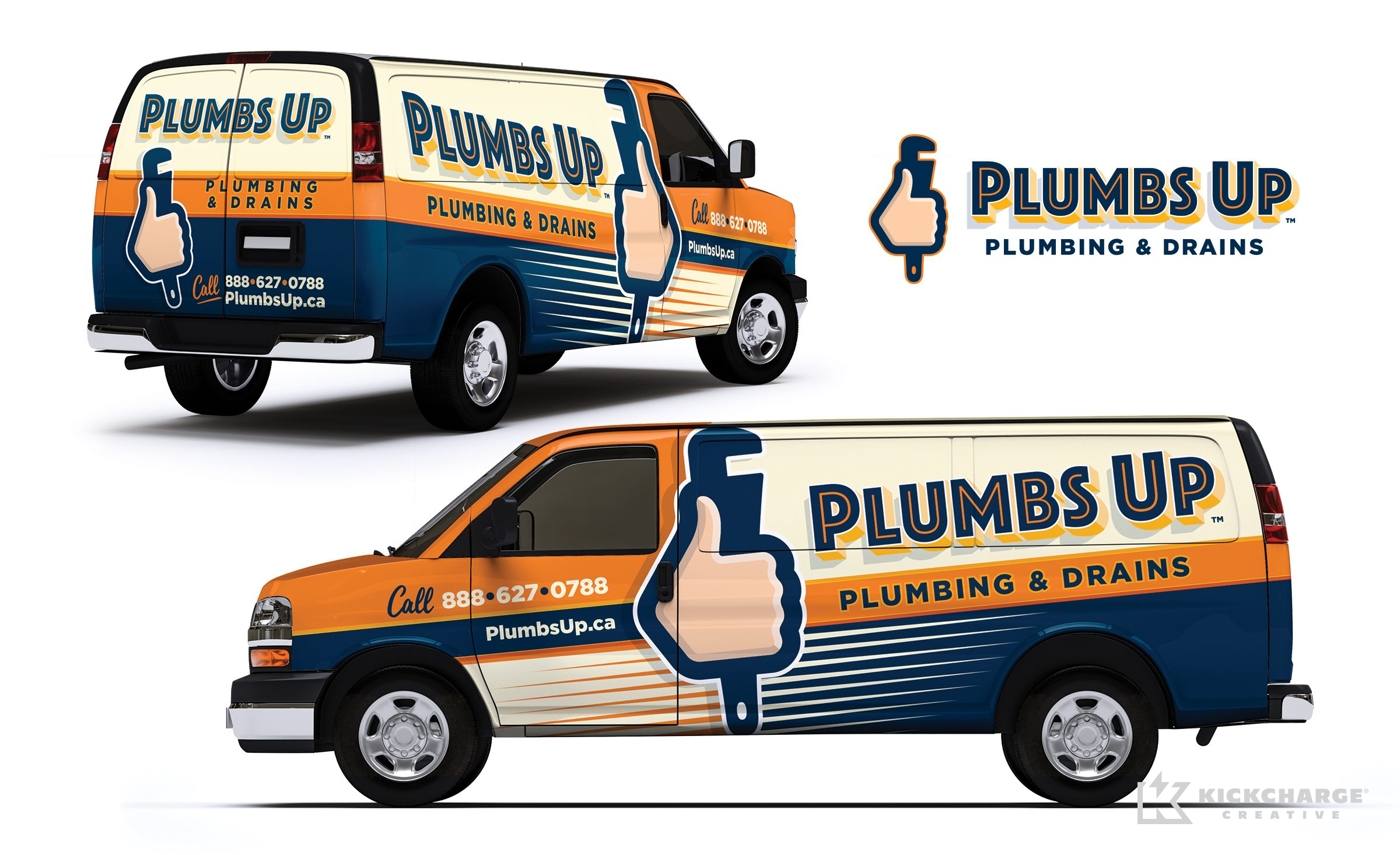 plumbing truck wrap for Plumbs Up Plumbing & Drains