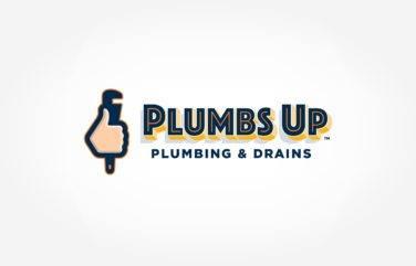plumbing logo for Plumbs Up Plumbing & Drains
