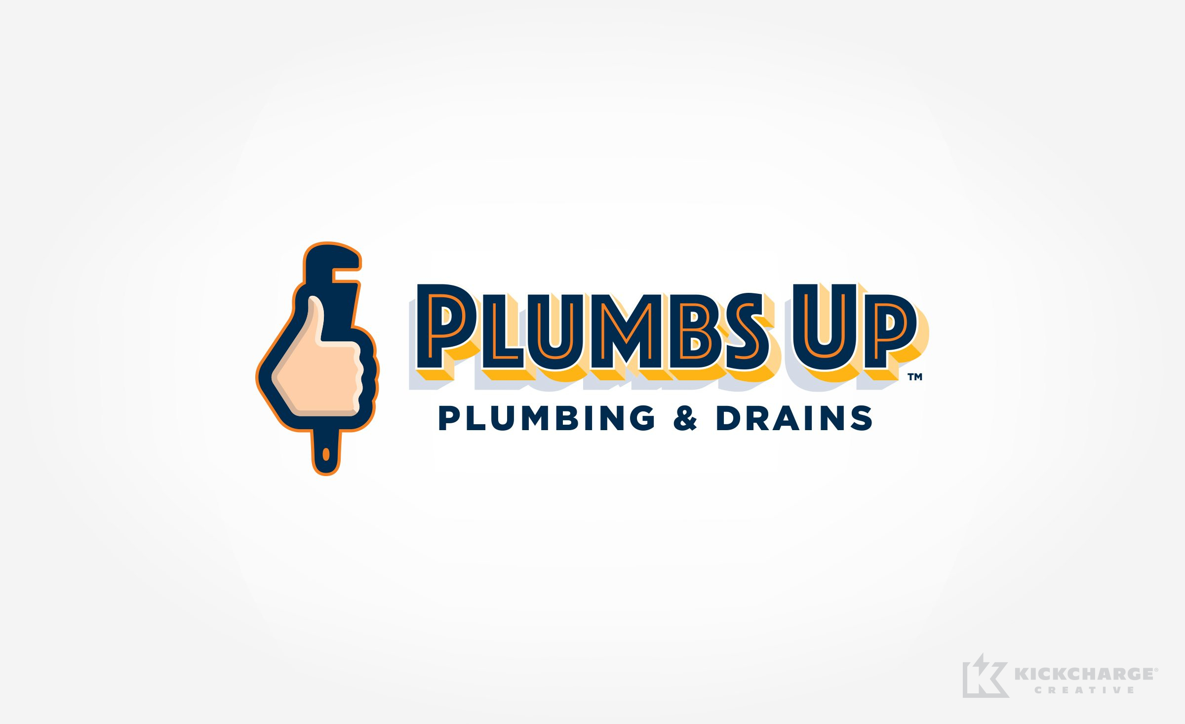 plumbing logo for Plumbs Up Plumbing & Drains