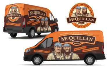 hvac and plumbing truck wrap for McQuillan Bros
