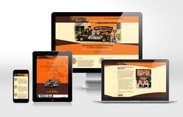 hvac and plumbing website for McQuillan Bros