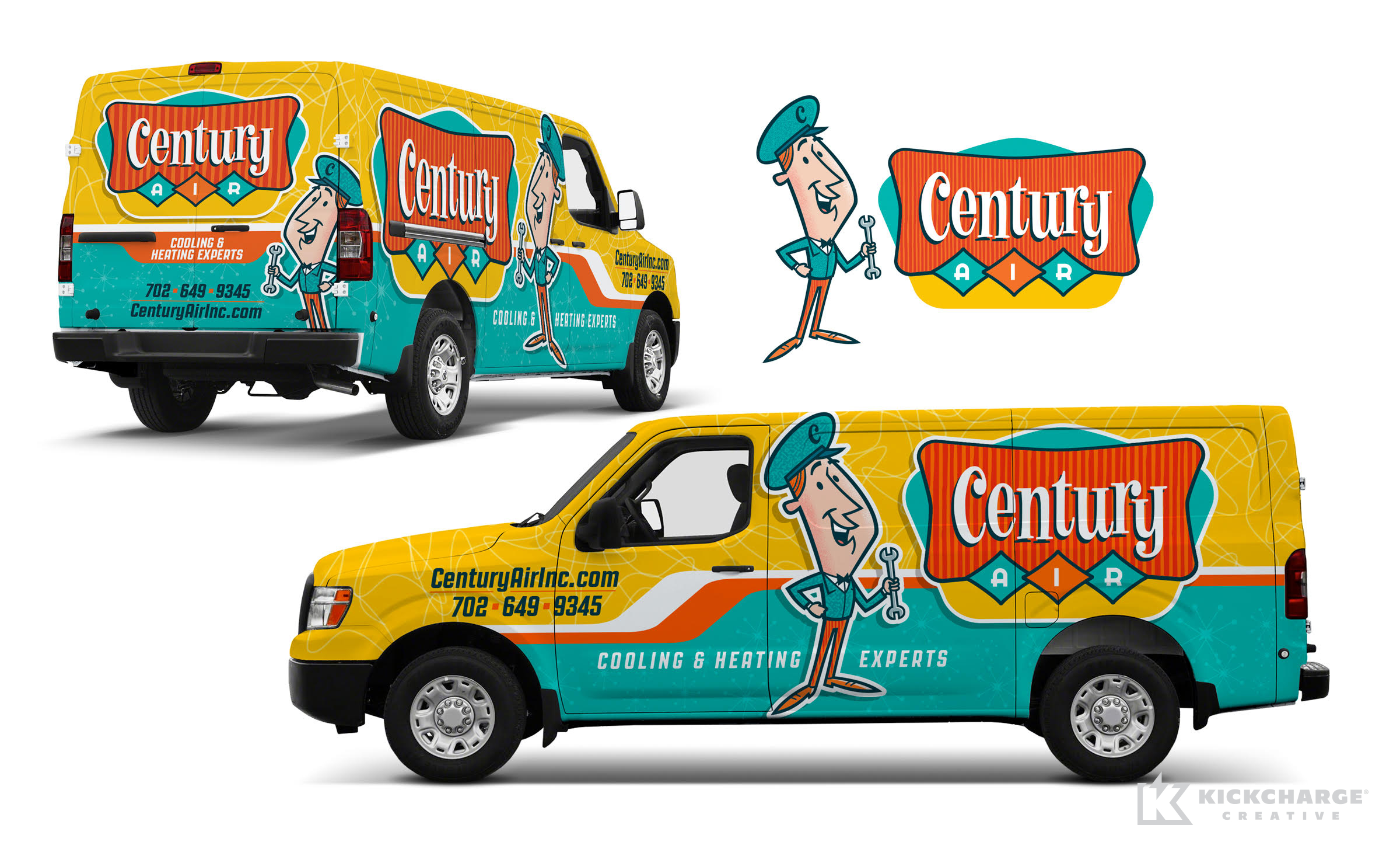 hvac truck wrap for Century Air