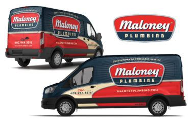 plumbing truck wrap for Maloney Plumbing