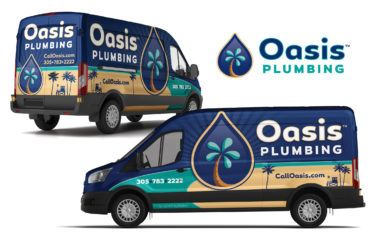 plumbing vehicle wrap for Oasis Plumbing