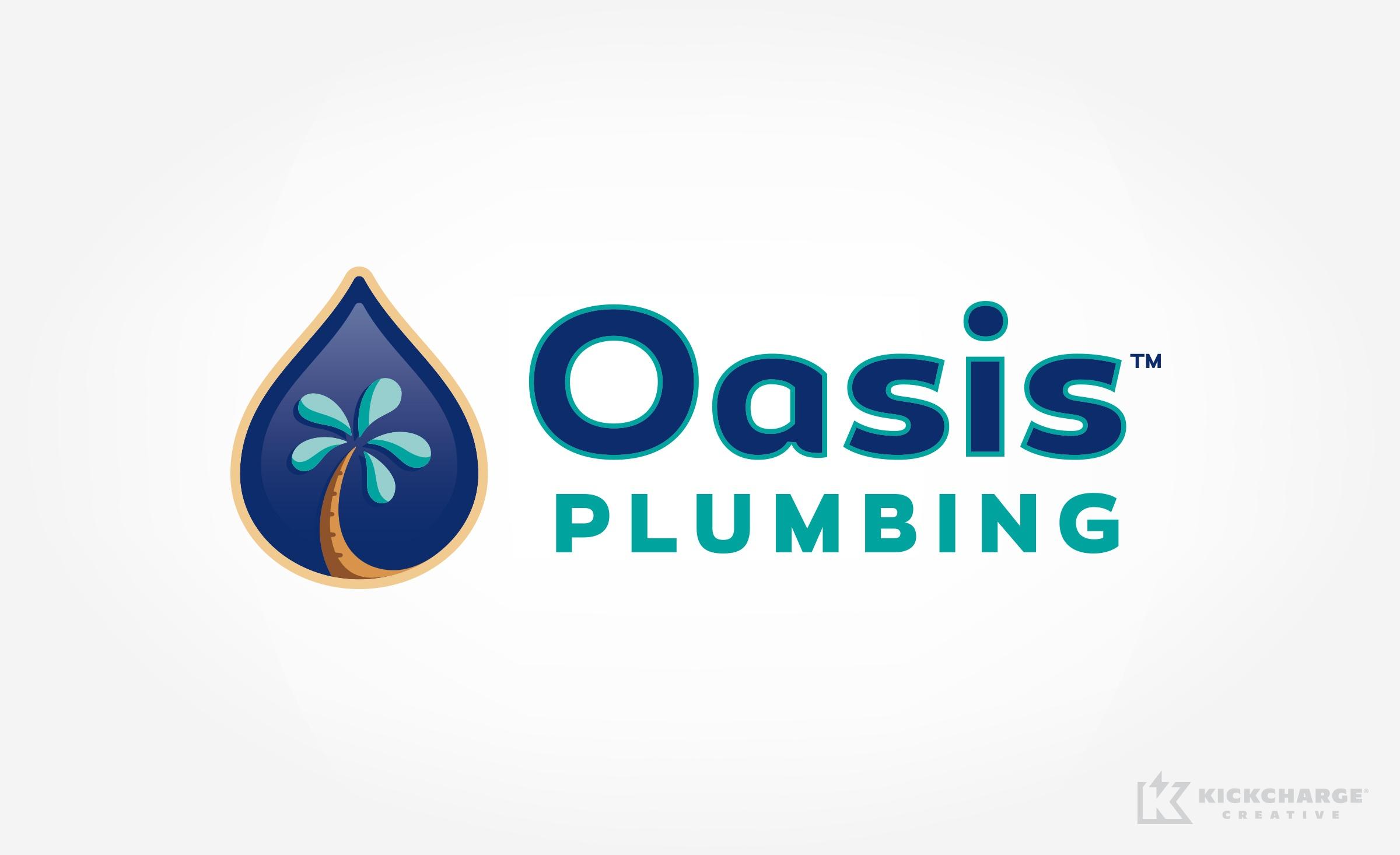 plumbing logo for Oasis Plumbing