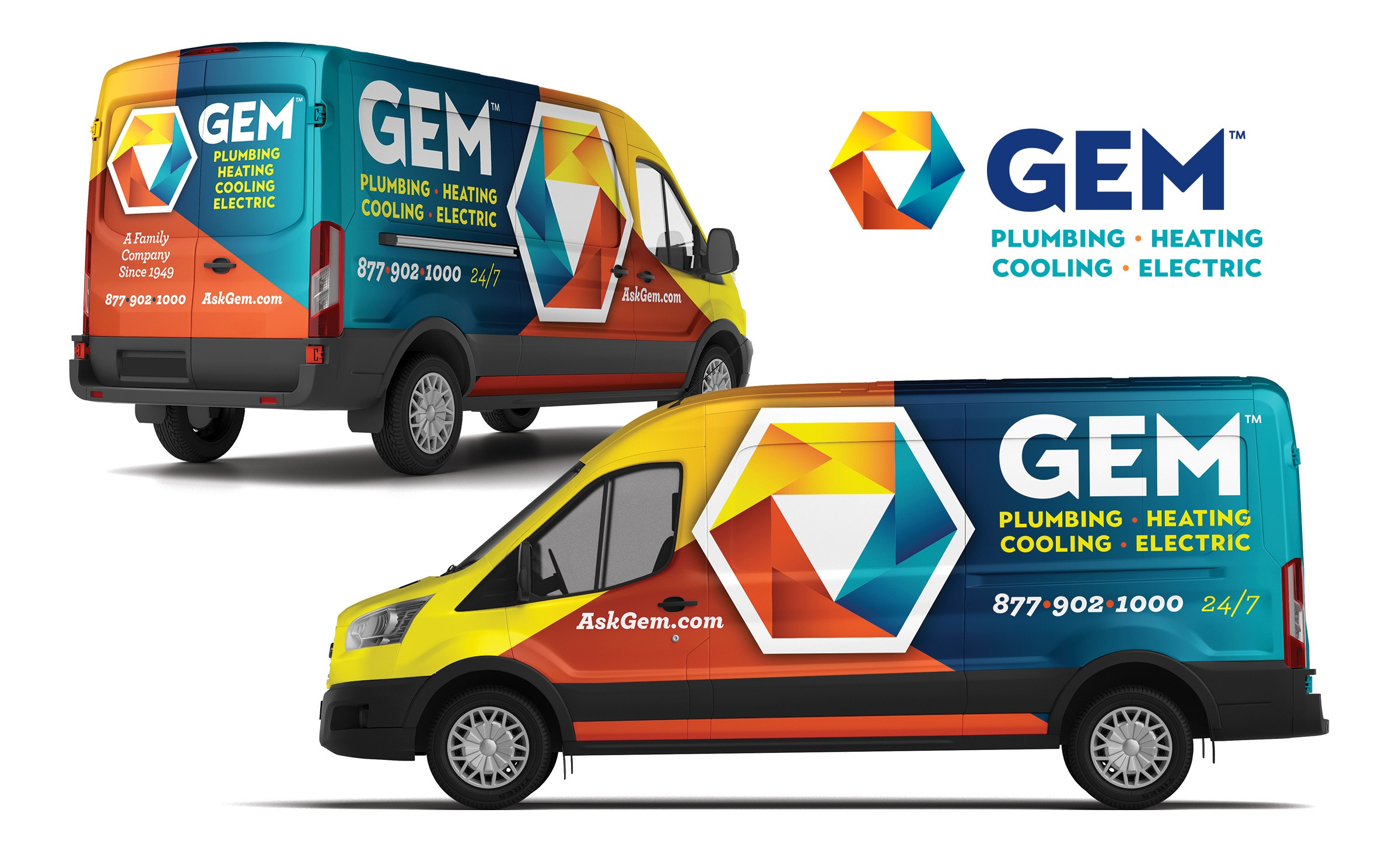 plumbing and hvac truck wrap for GEM