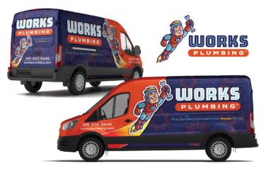 plumbing truck wrap for Works Plumbing