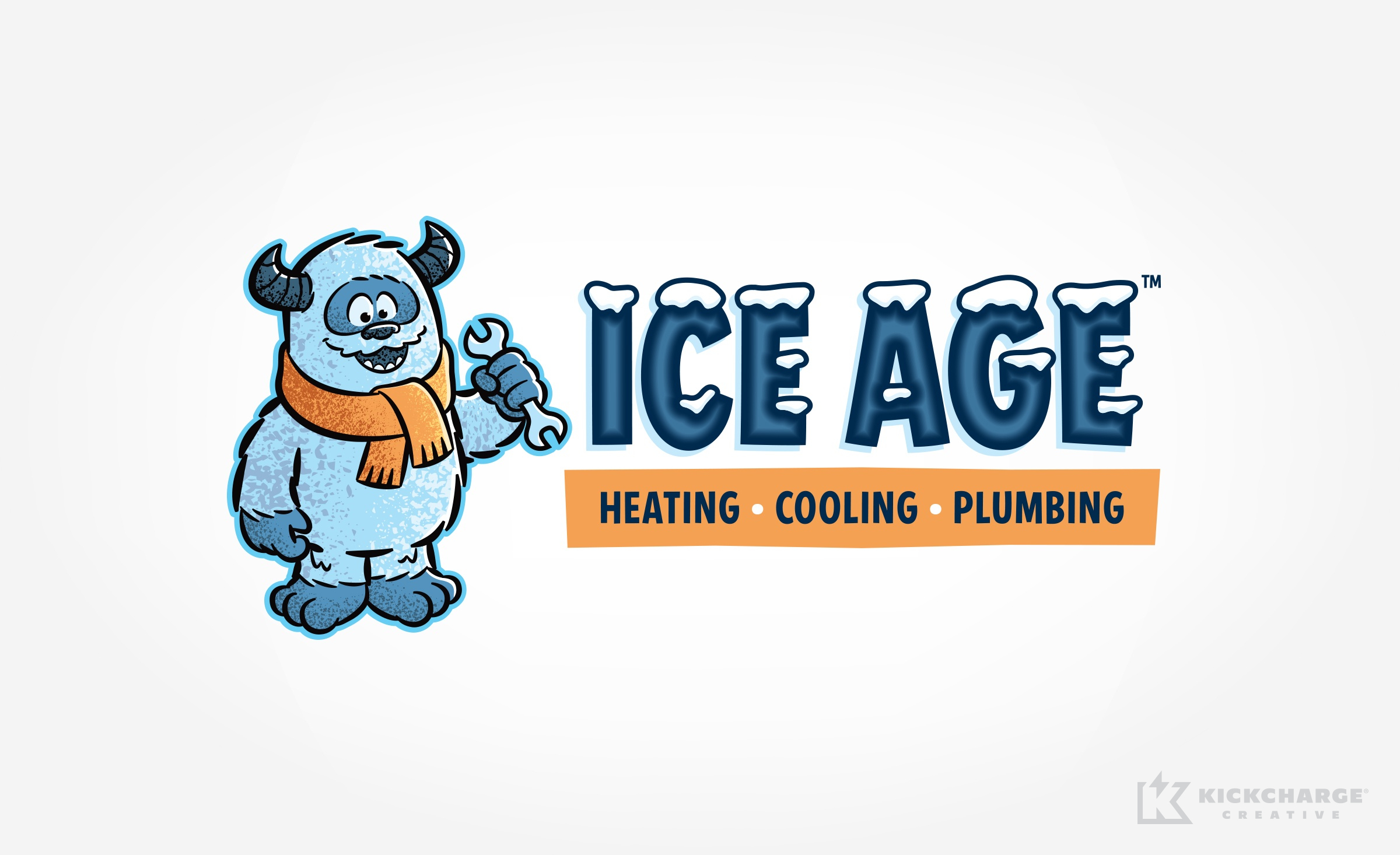hvac and plumbing logo for Ice Age