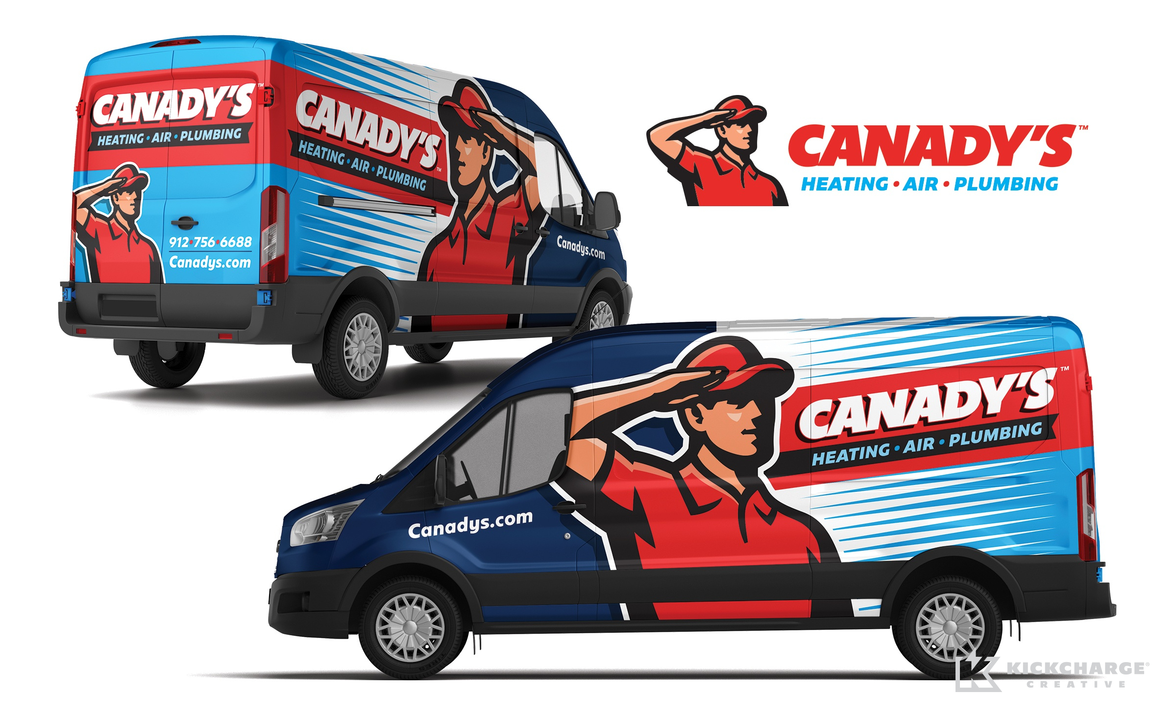 hvac and plumbing truck wrap for Canady's