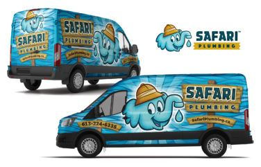 plumbing truck wrap for Safari Plumbing