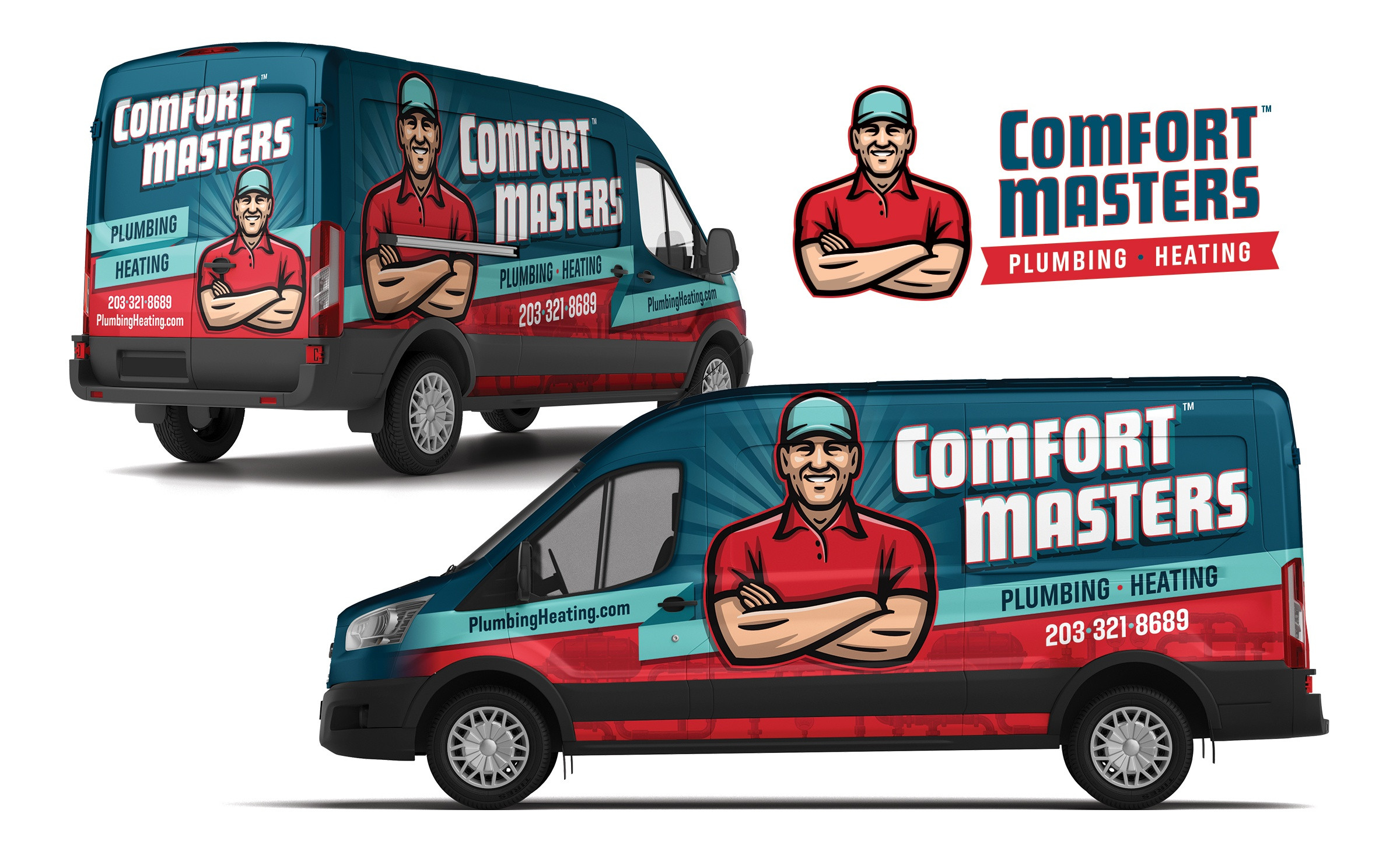plumbing and hvac truck wrap for Comfort Masters
