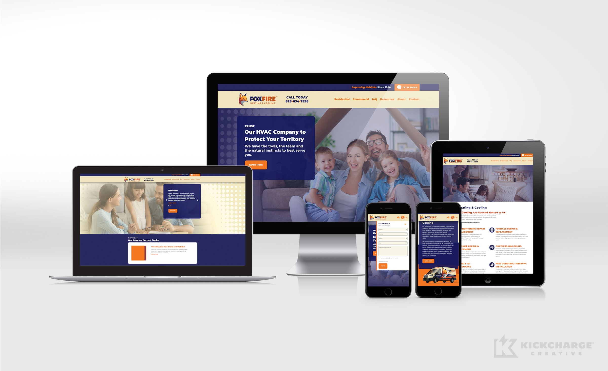 hvac website for FoxFire Heating & Cooling