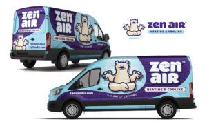 hvac truck wrap for Zen Air Heating & Cooling
