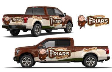 hvac truck wrap for Friar's Heating & Air