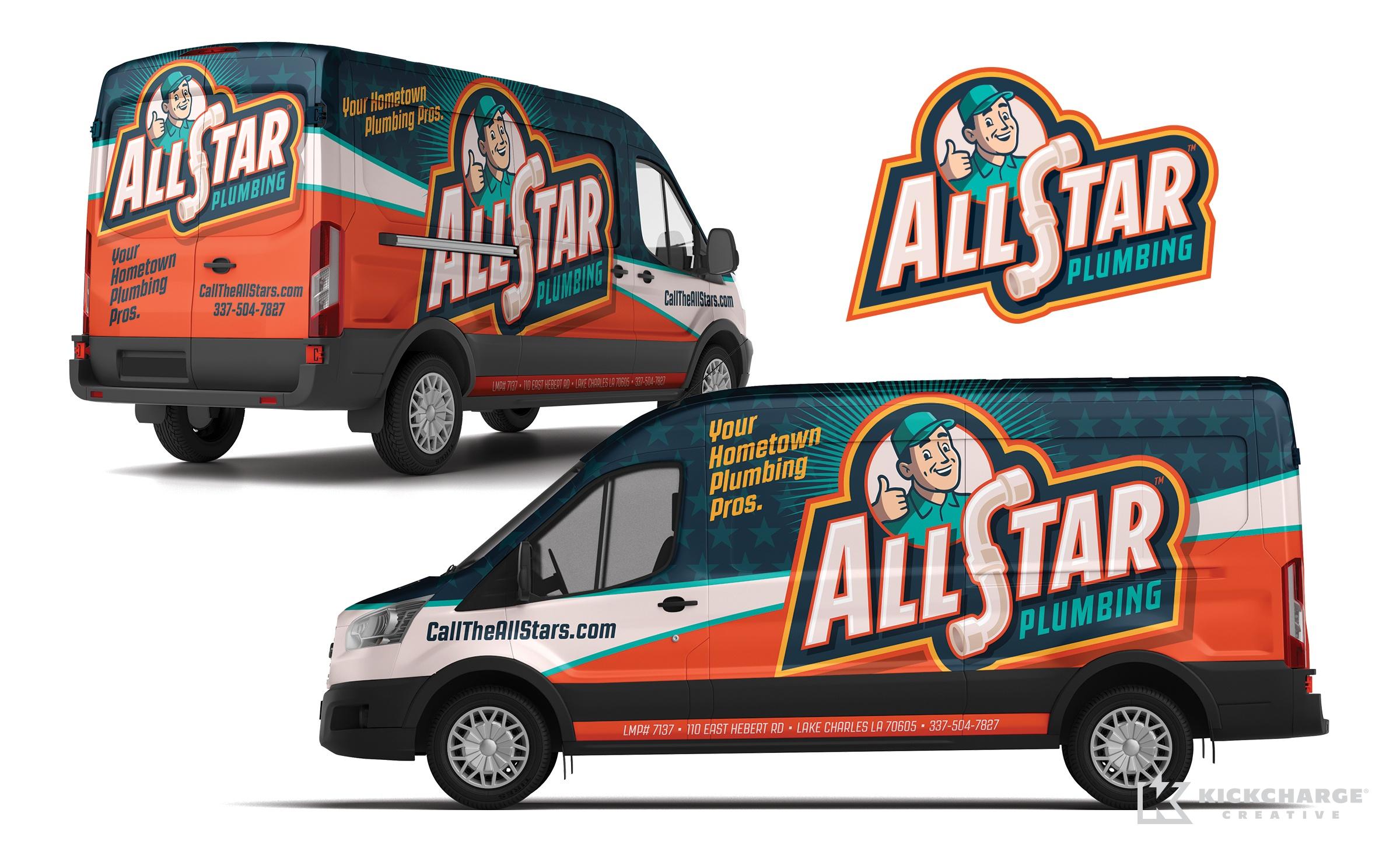 plumbing truck wrap for AllStar Plumbing