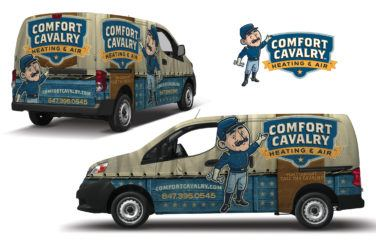 hvac truck wrap for Comfort Cavalry