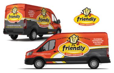 truck wrap for Friendly Home Services